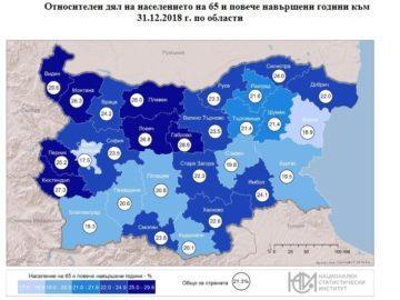 Всеки четвърти жител на Русенска област е над 65 години