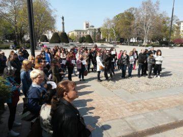 В Русе медицински специалисти протестираха за достойно заплащане