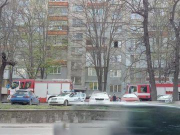 """Пожар в блок """"Шабла"""""""