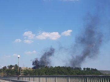 Нерегламентирано изгаряне на отпадъци при изхода на Русе