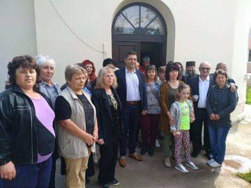 Народният представител Андриан Райков присъства на освещаване обновения храм в село Кривня