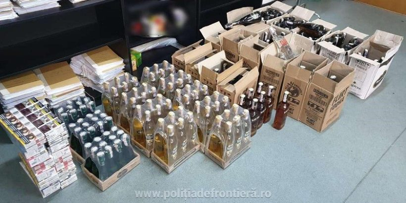 Български гражданин е спрян на Дунав мост 1 при опит за контрабандно пренасяне на 222 бутилки алкохол и 180 кутии цигари