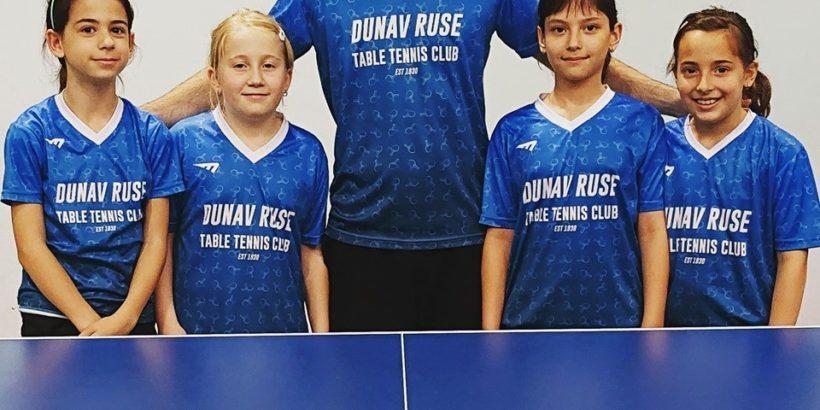 """Отборът на СКТМ """"Дунав"""" - Русе /момичета до 12 години/ завърши на седмо място на държавното отборно първенство"""