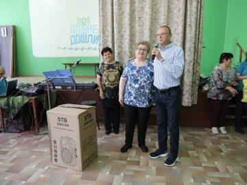 Народният представител Пламен Нунев предостави нова музикална уредба на пенсионерски клуб в Русе