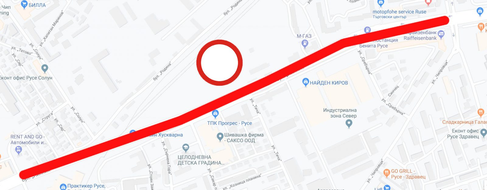 затваряне на бул. липник