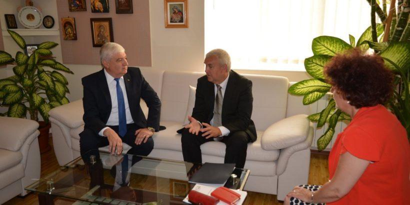 Кметът на Гюргево и посланикът на Беларус в Румъния проведоха среща