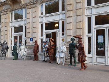 Международният фестивал на живите статуи започна в Русе сега