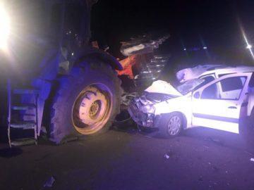 Жена загина при катастрофа на автомобил и трактор в гюргевско село