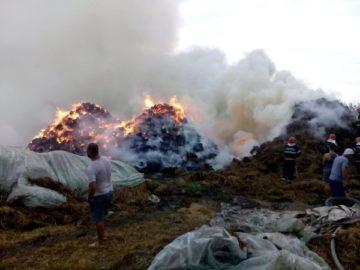 Светкавица унищожи 5000 бали слама в гюргевско село