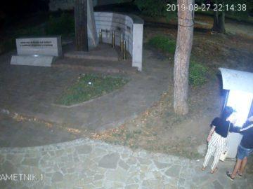 """Записи от охранителни камери по ул. """"Александровска"""" обясняват случката с информационното табло на мемориала"""