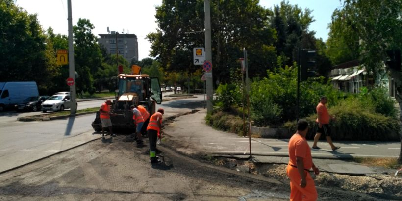 """Шофьорите трябва да бъдат внимателни по бул. """"Липник"""" поради СМР в нов участък"""