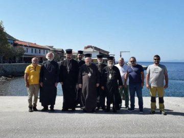 Русенският митрополит Наум е на поклонническо посещение в Света гора