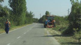 ОПУ - Русе почиства пътя от Басарбово до Две могили