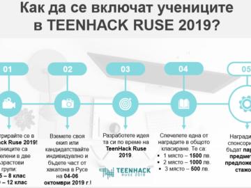 Канят учениците да участват в Teenhack Ruse 2019