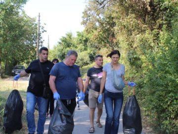 75 чувала с отпадъци събра екипът на Областна администрация Русе в деня на голямото чистене