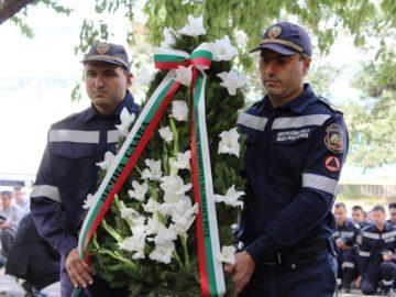 В Русе почетоха паметта на загиналите при изпълнение на служебния си дълг пожарникари