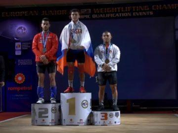 Стилян Гроздев със сребро от европейското първенство по щанги за юноши