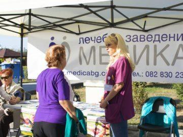 """Лекари от """"Медика"""" оказаха първа помощ на колабирал пациент по време на Празника на здравето в Тетово"""