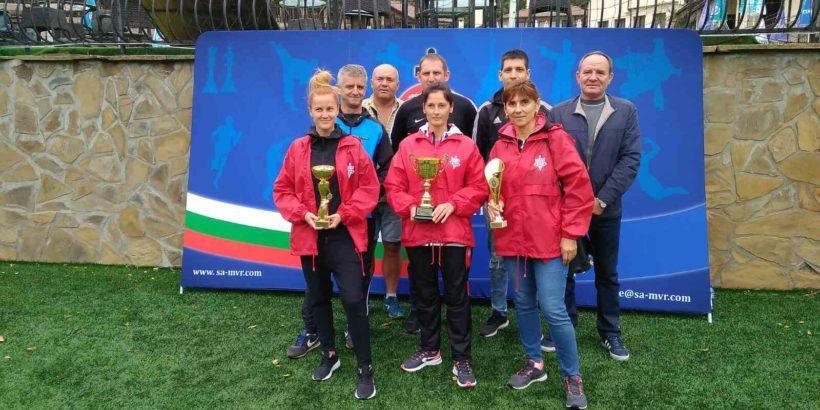 Три купи, четири медала и четири дипломи завоюваха състезателите на ОДМВР-Русе