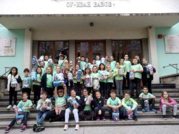 """Децата от ОУ """"Иван Вазов"""" - Русе се включиха в благотворителната инициатива """"Капачки за бъдеще"""""""