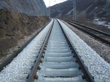 реновиран железопътен участък
