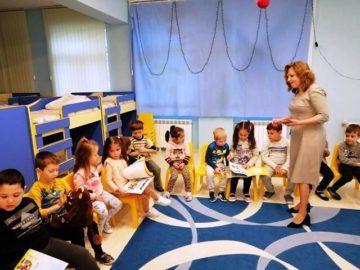 "С Елмър и Грузулак при децата от детска градина ""Пинокио"""