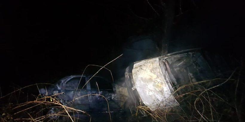 2 автомобила изгоряха при катастрофа край гюргевско село