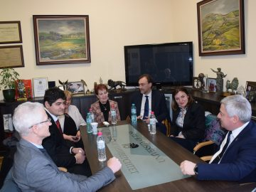 Ректорът чл.-кор. проф. д.т.н. Христо Белоев се срещна с представителите на Европейската Комисия от Директората за Изследвания и иновации