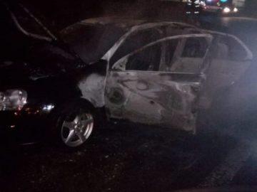 Автомобил изгоря в Гюргевско в нощта на Нова година