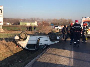 Шофьор преобърна автомобила си край село Дая