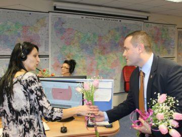 Иво Пазарджиев и Пенчо Милков поздравиха служителите в Районен център 112 в Русе