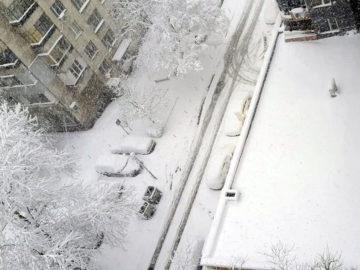 зима сняг навявания