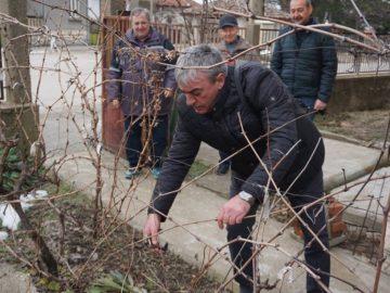 Кметът на Община Две могили Божидар Борисов участва в ритуала по зарязване на лозите