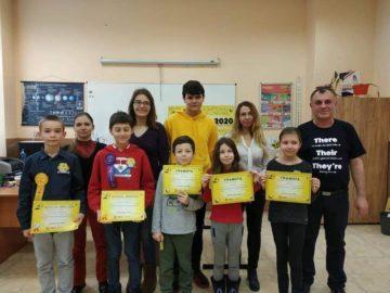 """В ОУ """"Иван Вазов"""" се проведе училищния кръг на състезанието """"Spelling bee"""""""