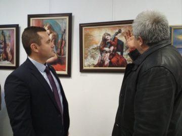 Кметът на Община Русе присъства на откриването на изложба, посветена на музиката