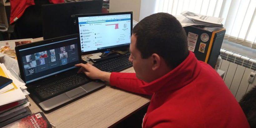 Проведе се он-лайн сбирка на доброволците на Областната младежка структура на Български Червен кръст – Русе