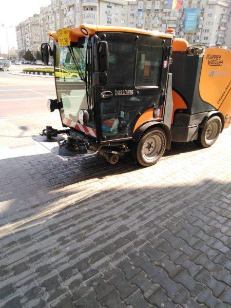 Дезинфекцират улици и тротоари в Гюргево