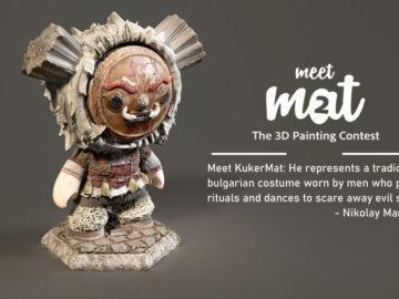 """Първо място за студент на Русенския университет в престижния конкурс за 3D текстуриране на Adobe """"Meet MAT 2"""""""