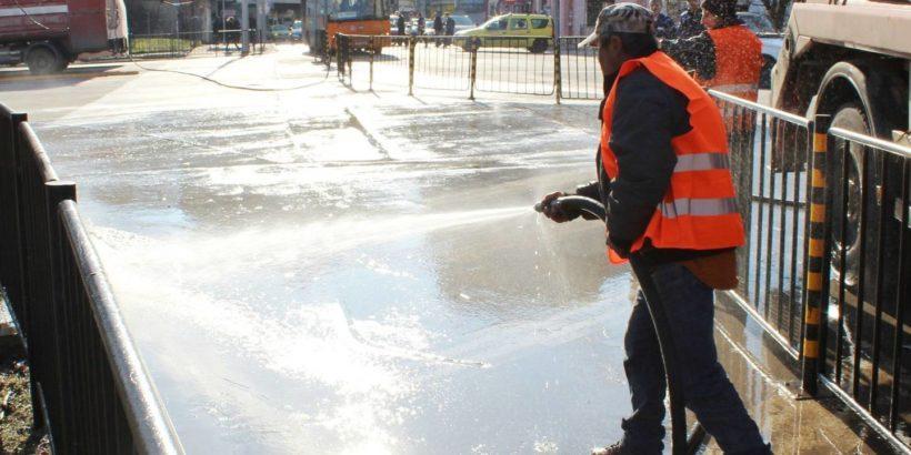 График за миене на пътни платна и тротоари на територията на град Русе