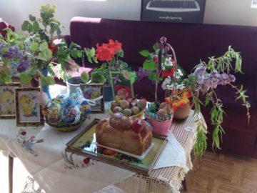 Великденска изложба в читалището на Ряхово