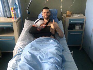 """Състезателят на ВК """"Дунав"""" Ангел Велков претърпя днес успешна операция на рамото"""