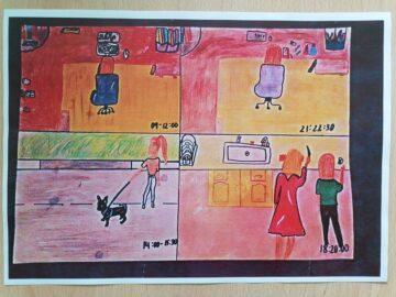 """Ана - Мария Димитрова с две първи места в конкурса за рисунка и/или есе на тема """"Моето ежедневие в периода на извънредното положение"""""""