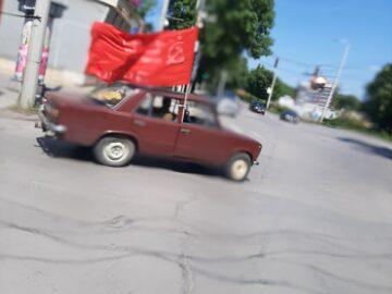 """""""Жигули"""" с червено знаме в Русе на 9 май"""
