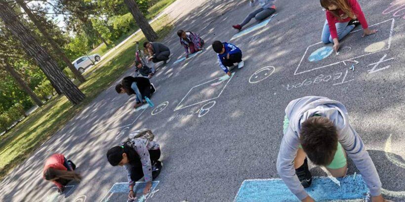 """ЦОП - Две могили проведе първия за годината конкурс за рисунка на асфалт на тема """"За какво мечтая?"""""""