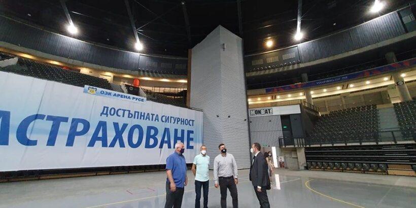 """Евродепутатът Андрей Новаков посети зала """"ОЗК Арена"""" в Русе"""
