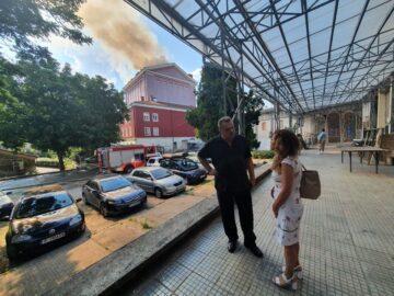 Народният представител Светлана Ангелова е на мястото на пожара в Държавна опера - Русе
