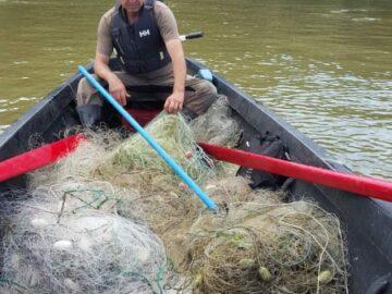 Половин километър бракониерски мрежи иззе при проверки ИАРА - Русе