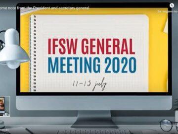 Участие на доц. Сашо Нунев в Общото събрание на Международната федерация на социалните работници и в глобалната онлайн конференция по социална работа