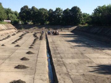 Основно почистване на ретензионните резервоари в Община Гюргево