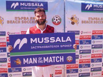 Живко Парашкевов стана Играч на мача ФК Русе - Свети Никола